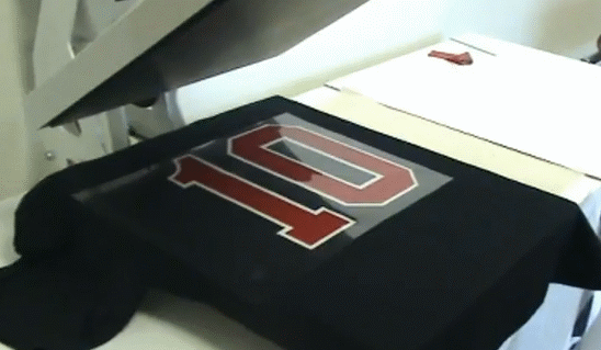 Easy ways of using the heat press transfer machine ink for It s all custom t shirts and embroidery atlanta